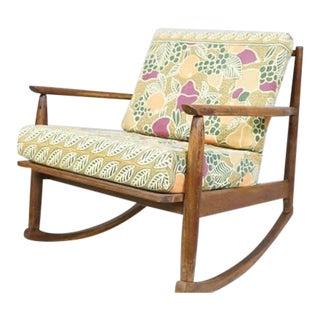 Mid-Century Modern Rocking Chair- Real Teak Frame