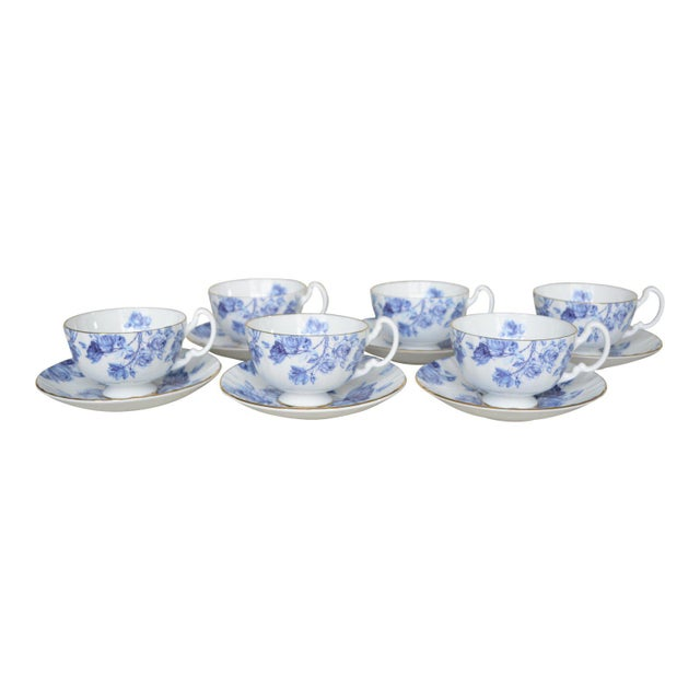 2000 - 2009 Aynsley English Cups & Saucers - Service for 6 For Sale - Image 5 of 5