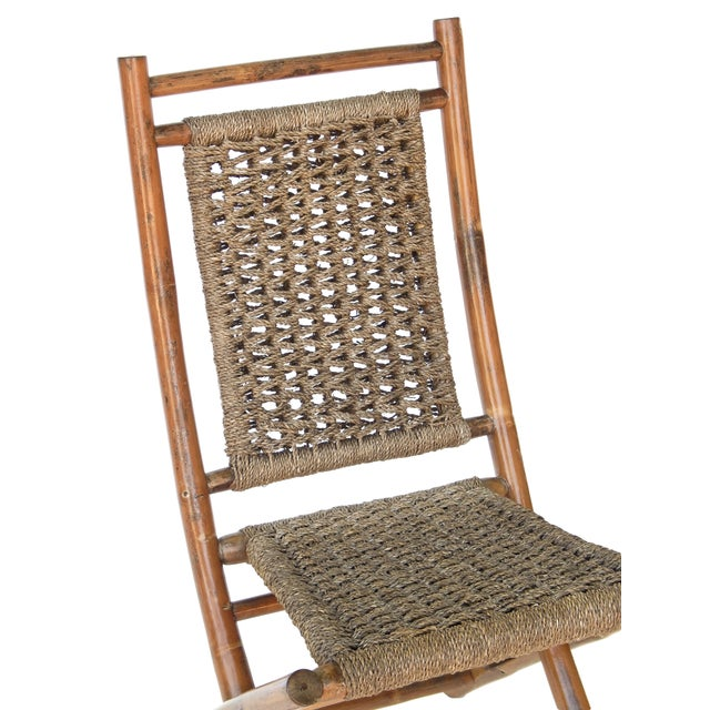 Folding Bamboo Chairs For Sale - Image 9 of 11
