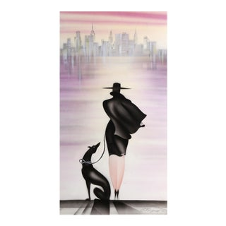 Erik Freyman, City of My Dreams, Airbrush With Pastels For Sale