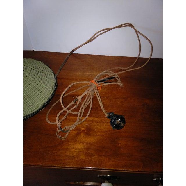 Antique Haywood Wakefield Era Wicker Table Lamp - Image 7 of 10
