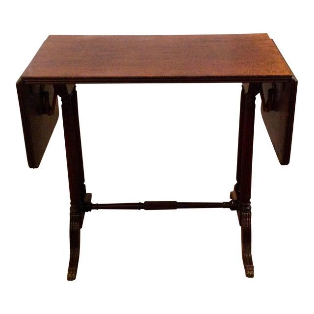Vintage John Wanamaker NY Regency Style Burl Walnut Coffee Table For Sale