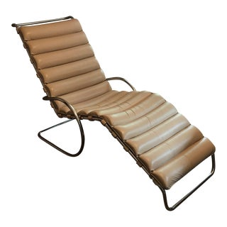 Mies Van Der Rohe Beige Leather Chaise