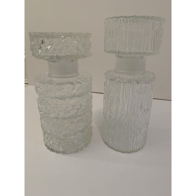 Transparent Brutalist Glass Decanters - a Pair For Sale - Image 8 of 11