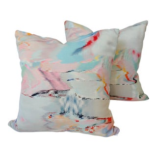 Watercolor Pillow Covers a - a Pair For Sale