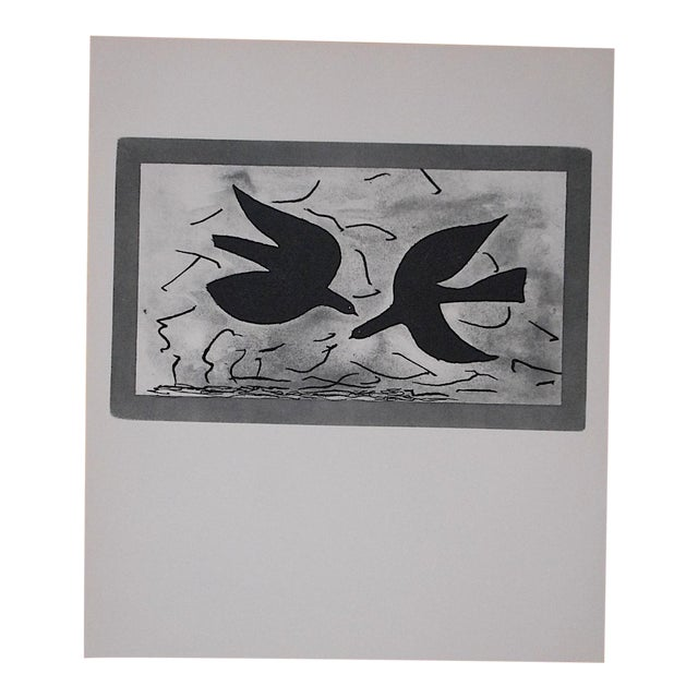 Vintage Mid 20th C. Modern Lithograph - Georges Braque For Sale