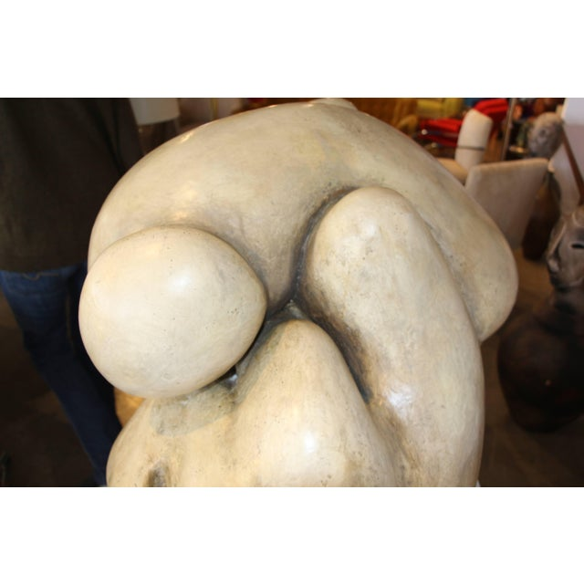 1950s Plaster Figurative Sculpture Purchased at a Nyc Gallery For Sale - Image 9 of 10