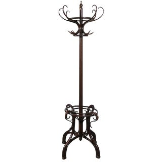 19th Century English Twelve-Hook Bentwood Hall Tree in the Style of Thonet