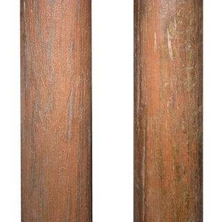 1900s Vintage Indian Teak & Stone Columns - a Pair Preview