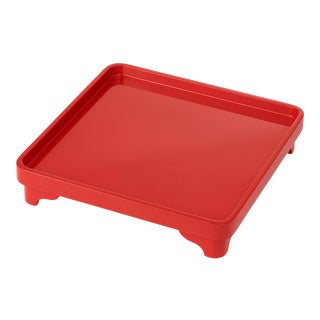 Miles Redd Collection Chinese Riser in Vermilion Red For Sale