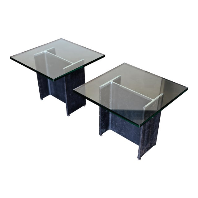 Gerald McCabe I Beam Side Tables Circa 1965 - a Pair For Sale