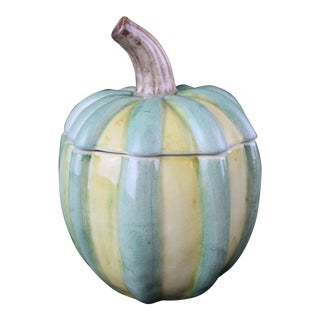 1950s Vintage Italian Pottery Pumpkin For Sale
