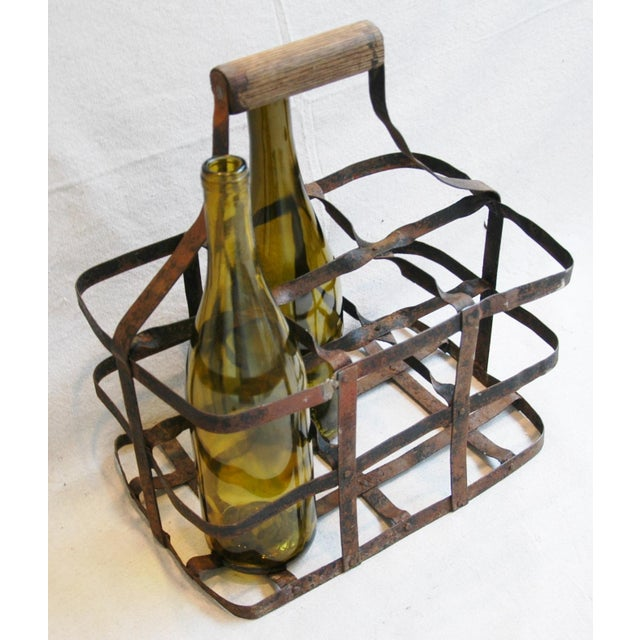 1930s French Metal 6 Bottle Wine Carrier For Sale In Los Angeles - Image 6 of 8