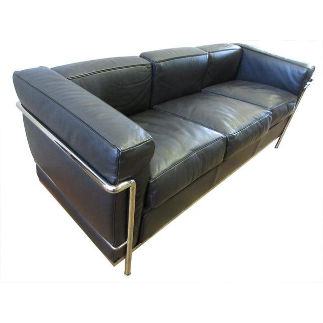 2010s Cassina Le Corbusier Lc2 3-Seat Sofa For Sale - Image 5 of 12
