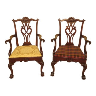 Kittinger D2125 Ball & Claw Chippendale Armchairs - A Pair