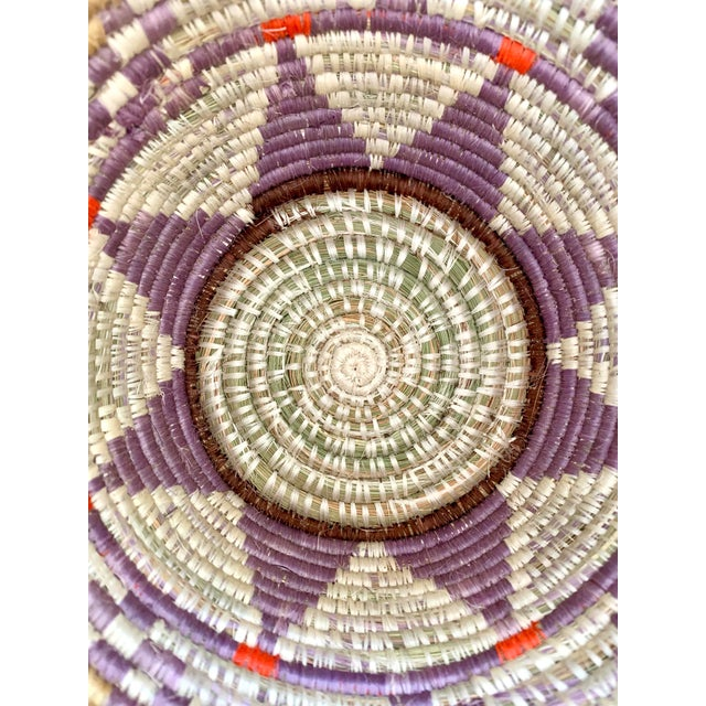 Purple Tribal Style Handwoven Planter/Basket For Sale - Image 8 of 10