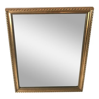 Vintage Gold Frame Vanity Mirror For Sale