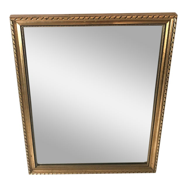 Vintage Gold Frame Vanity Mirror | Chairish