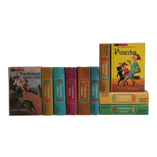 Vintage Children's Bookshelf: Companion Library, S/10 For Sale