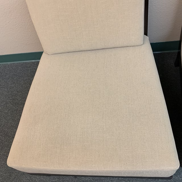 Barbara Barry Hbf Carmel Armless Chair- a Pair For Sale - Image 11 of 13