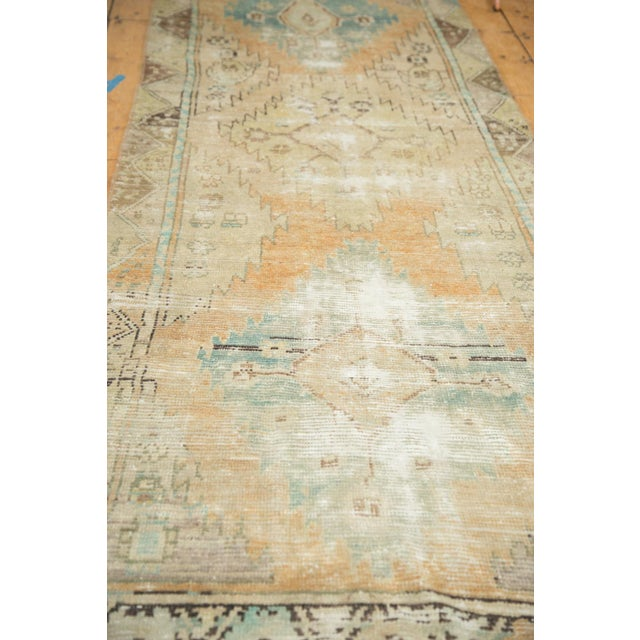 "Vintage Distressed Oushak Rug Runner - 3'2"" X 9'2"" - Image 8 of 11"
