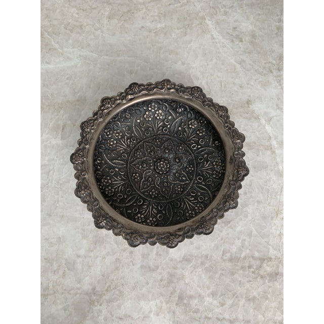 Persian Persian Repousse 900 Silver Bowl For Sale - Image 3 of 7