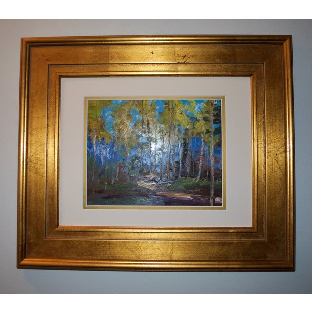 Yellow Aspen Trees Painting - Image 3 of 5