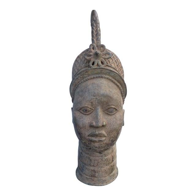 Bronze Head of an Ife Queen Mother - Image 1 of 9