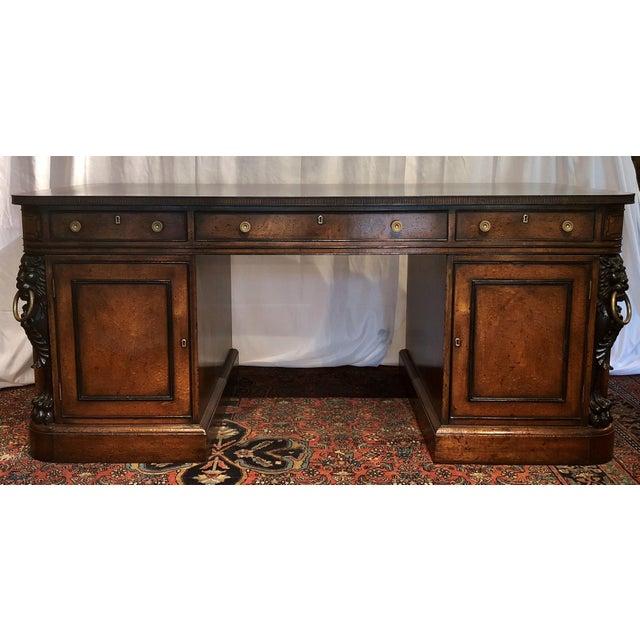 "Antique English Mahogany ""Duke of Wellington"" Desk, Circa 1910-1920."