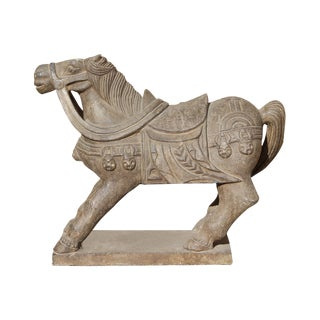 Tong Dynasty Style Chinese Horse Statue For Sale