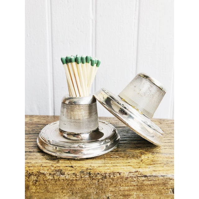 Antique English Sterling Silver and Glass Match Strikers - a Pair For Sale In New York - Image 6 of 10
