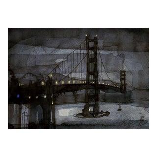 Fine art giclee print of the Golden Gate Bridge For Sale