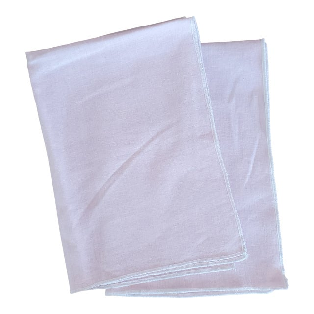 Pink Linen Kitchen Tea Dish Towels - a Pair For Sale