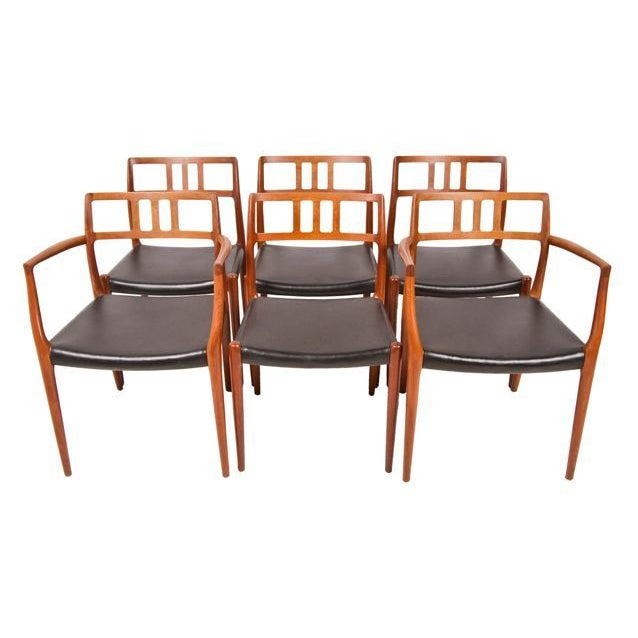 Niels Moller Danish Teak Dining Chairs - Set of 6 - Image 1 of 7