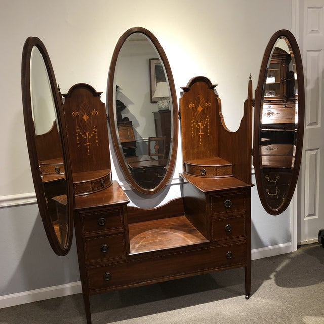 Antique Edwardian Inlay Vanity For Sale - Image 13 of 13