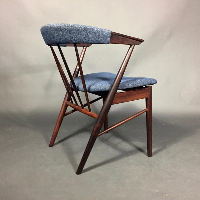 1960s Rosewood Spindle-Back Armchair, Helge Sibast, Denmark 1950s For Sale - Image 5 of 10