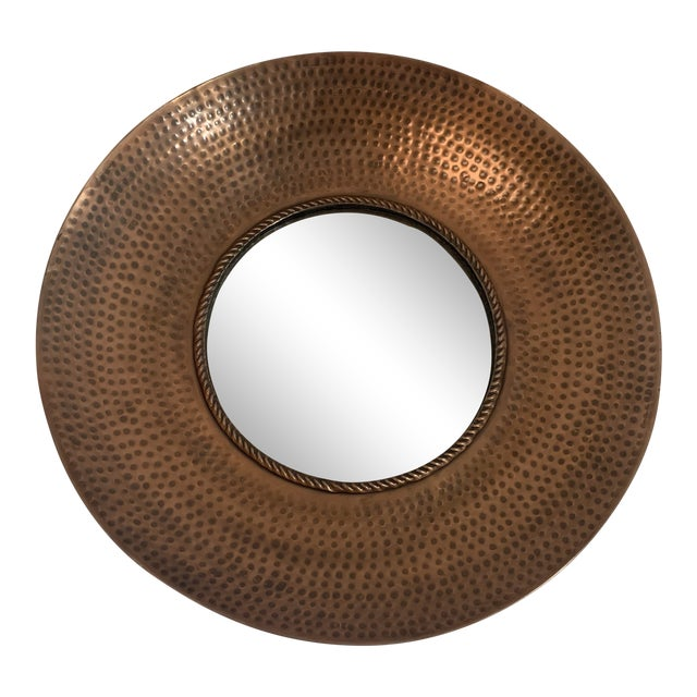 Hammered Copper Wall Mirror For Sale