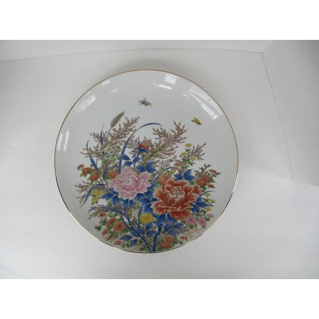 Chinoiserie Flower Plate For Sale - Image 6 of 6
