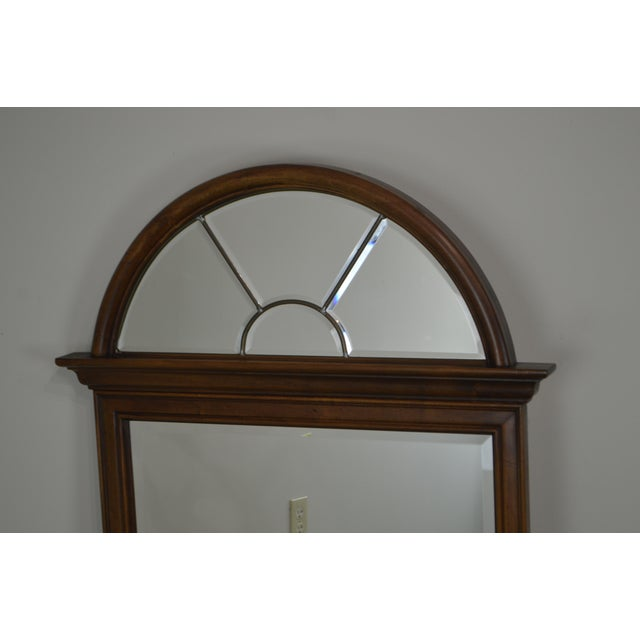 *STORE ITEM #: 19035 Lexington Cherry Arch Top Beveled Mirror AGE / ORIGIN: Approx. 30 years, America DETAILS /...