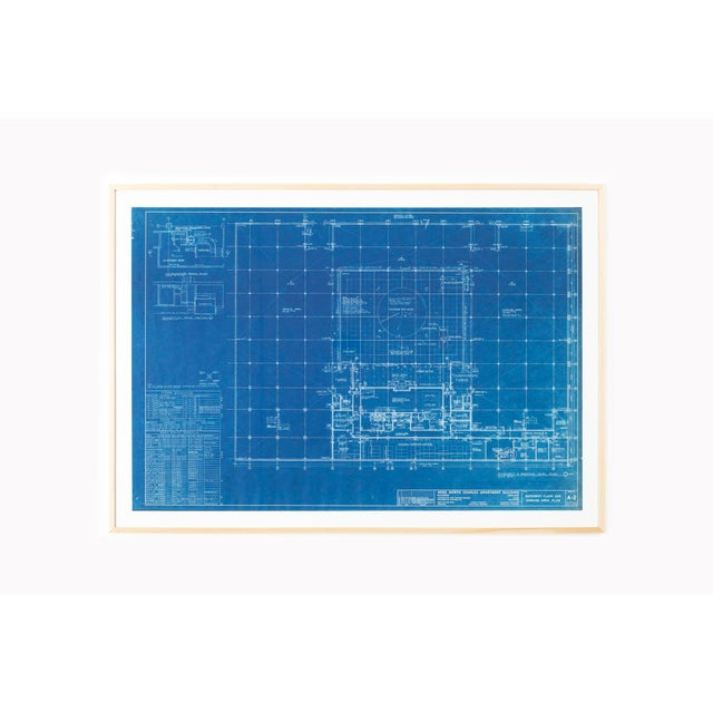 White Mies Van Der Rohe Blueprint, Crown Hall, Chicago, 1954, North Platform For Sale - Image 8 of 13