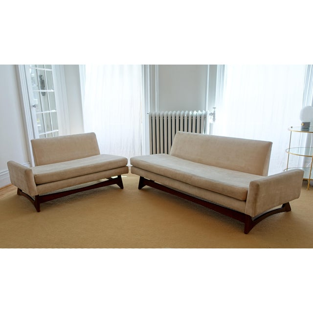 Custom Mid-Century Adrian Pearsall Two Piece Sofa - Image 2 of 4
