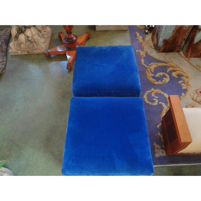Vintage Milo Baughman Style Parsons Ottomans - a Pair For Sale In Houston - Image 6 of 13