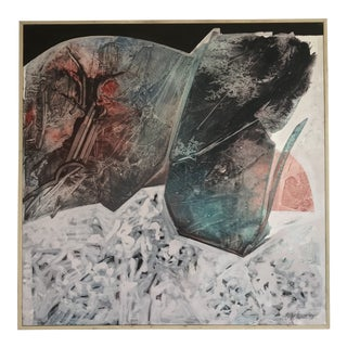 """Large Bob Bengtsson """"Crystals and Snow"""" Oil Painting on Canvas, 1993 For Sale"""