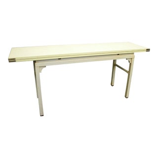 Long Mid-Century Hollywood Regency Painted Library Console Dining Table For Sale