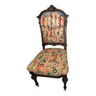 Antique Rifle Paper Co. Fabric Upholstered Accent Chair