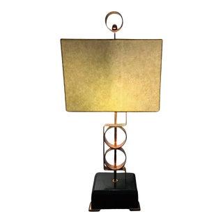 Striking Walter Von Nessen Modernist Art Deco Copper Lamp For Sale
