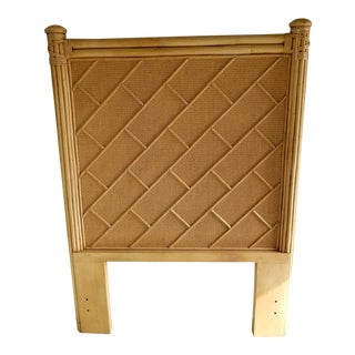 Rattan Bamboo Chippendale Twin Headboard