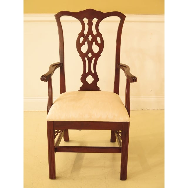 Ethan Allen Knob Creek Chippendale Cherry Dining Room Chairs