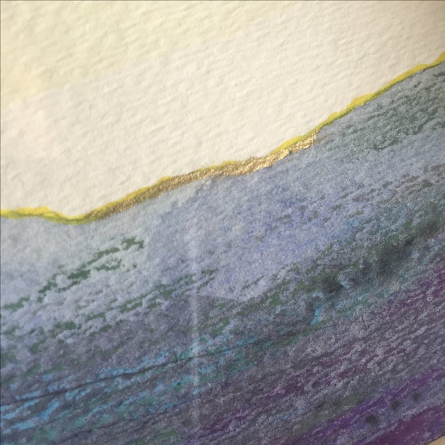 Oil Pastel and Gold Leaf Painting - Image 6 of 7
