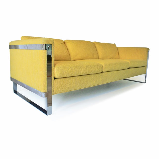 1970s Vintage Milo Baughman Style Sofa For Sale - Image 10 of 10
